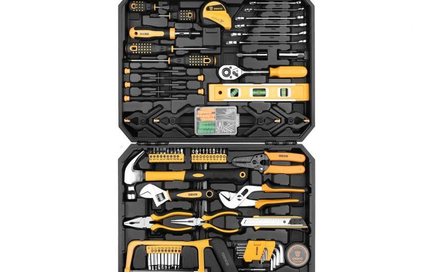 DEKOPRO 168-Piece Hand Tool Set with Toolbox
