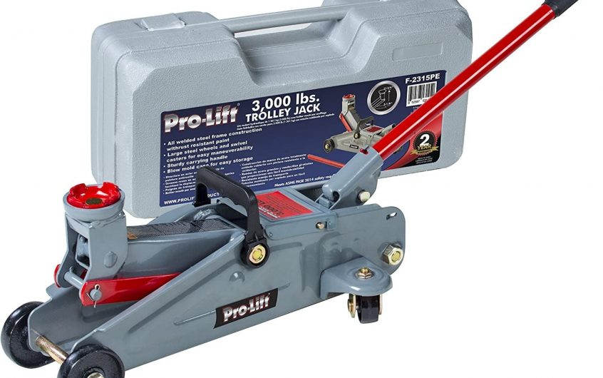 Pro-Lift 1.5 Ton Trolley Jack Car Lift with Blow Molded Case