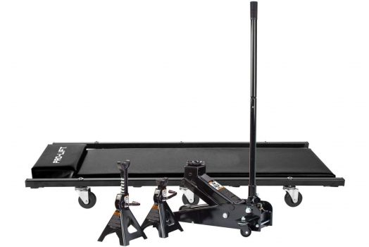3 Ton Heavy Duty Floor Jack/Jack Stands and Creeper Combo – Great for Garage Home Uses