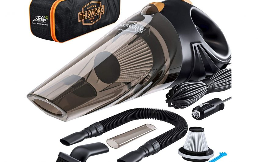 THISWORX 12V Portable Car Vacuum Cleaner with 16 Ft Cable