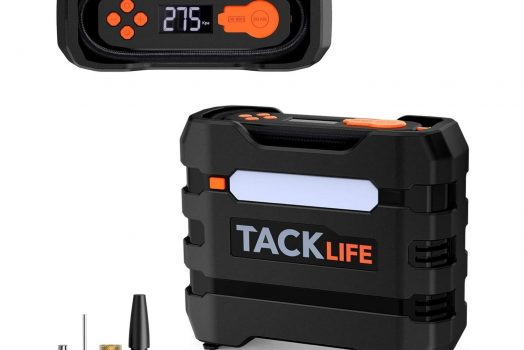 TACKLIFE Portable 12V Tire Inflator Air Compressor