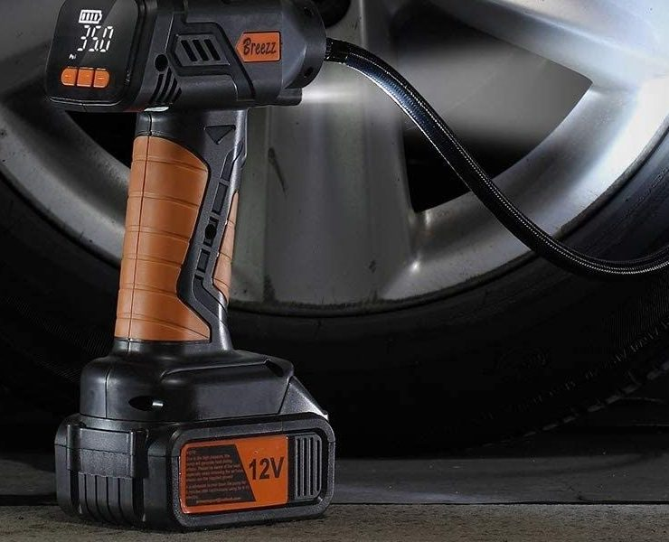 Cordless Tire Inflator – Rechargeable Multi-Purpose Air Compressor