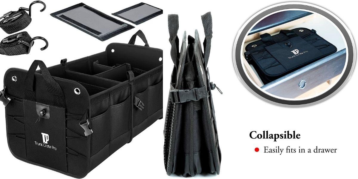 Collapsible Portable Multi Compartments Trunk Organizer
