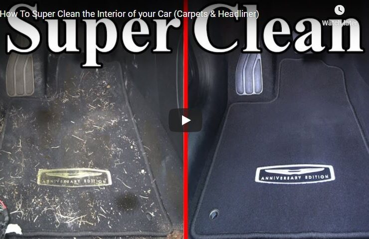 How To Super Clean the Interior of your Car