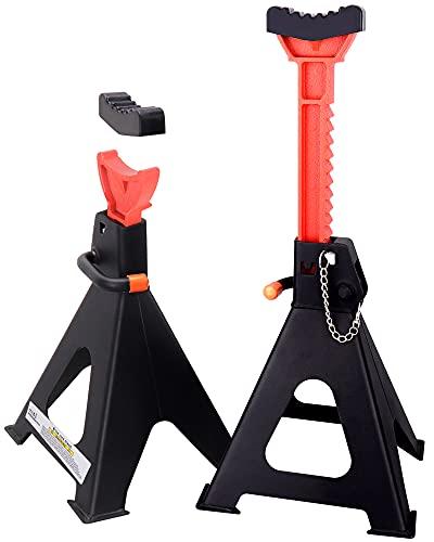 Rajvia Steel Jack Stands 6 Ton – Double Locking with Anti-Slip Gear Sleeve